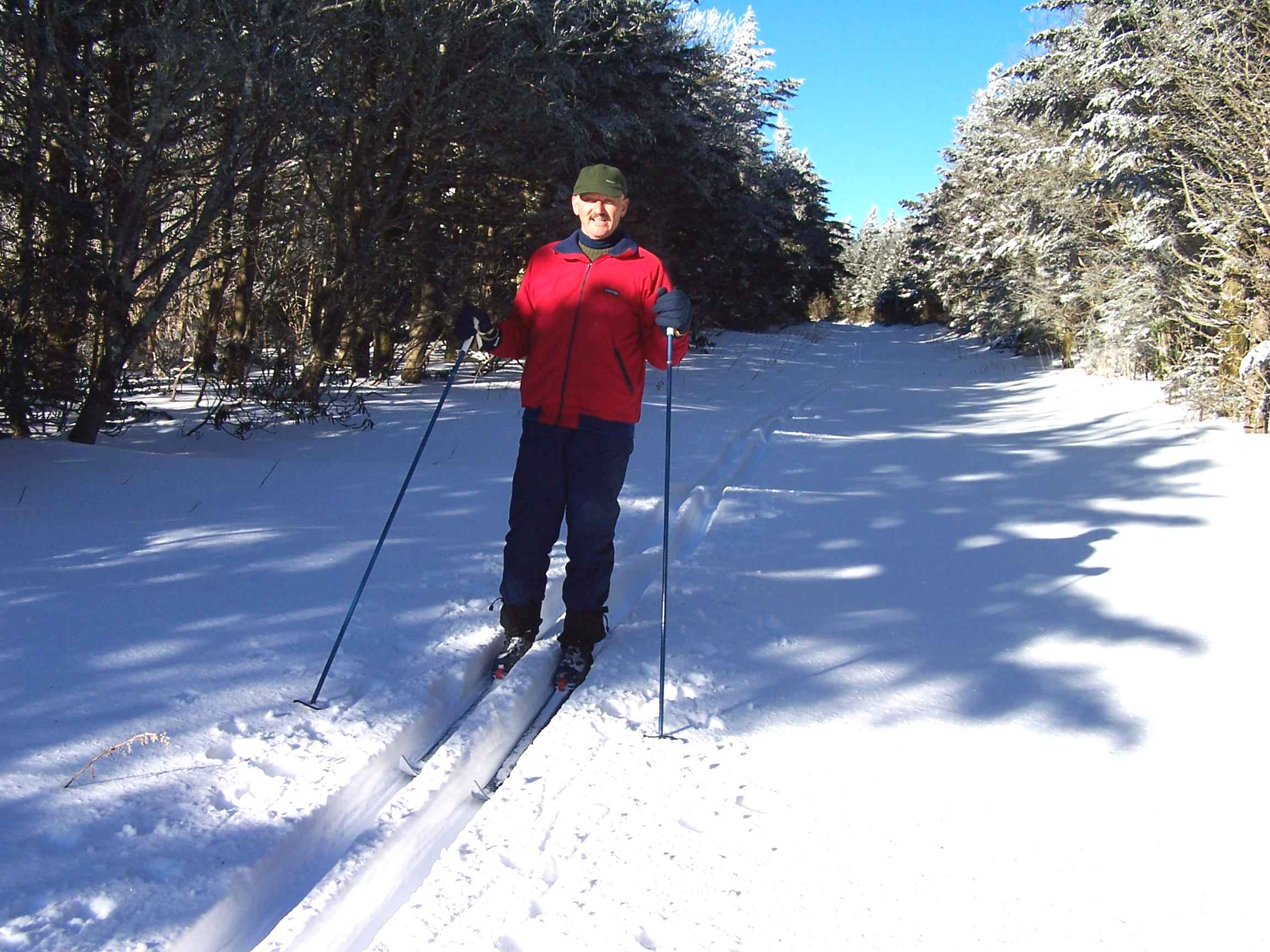 Cross-country skiing on top of Roan Mountain, 6,000 + feet elevation.